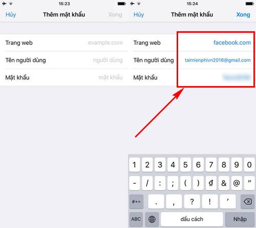 Cách xem mật khẩu Facebook đã lưu trên Safari iPhone