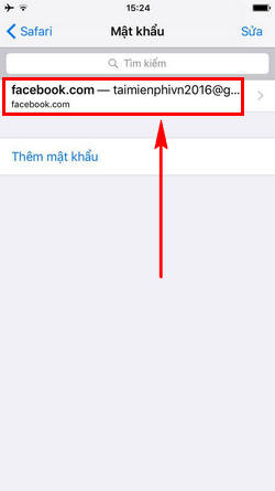 cach xem mat khau facebook da luu tren safari iphone 5