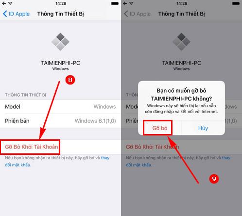 hướng dẫn xóa các thiết bị được kết nối với tài khoản AppleID của bạn