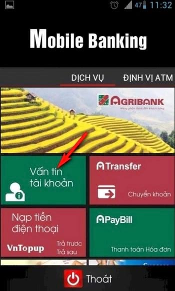 Cách kiểm tra số dư tài khoản Agribank, xem số tiền còn trong tài khoản ngân hàng Nông Nghiệp 3