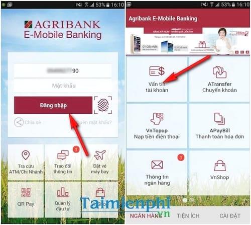 Cách kiểm tra số dư tài khoản Agribank, xem số tiền còn trong tài khoản ngân hàng Nông Nghiệp 4