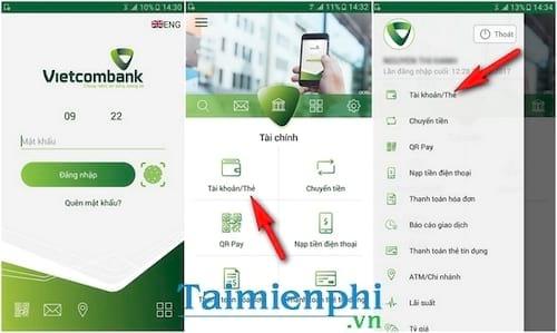 Kiểm tra số dư tài khoản Vietcombank trên máy tính, điện thoại 3