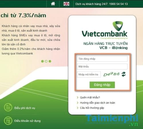 Kiểm tra số dư tài khoản Vietcombank trên máy tính, điện thoại 4