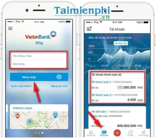 Kiểm tra số dư tài khoản Vietinbank, xem số tiền còn trong tài khoản Ngân hàng TMCP Công Thương VN 2