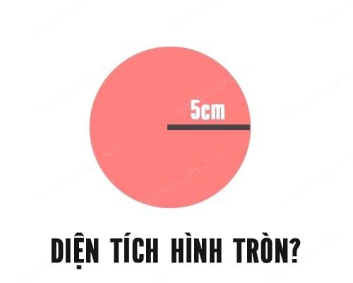 cong thuc tinh chu vi va dien tich hinh tron