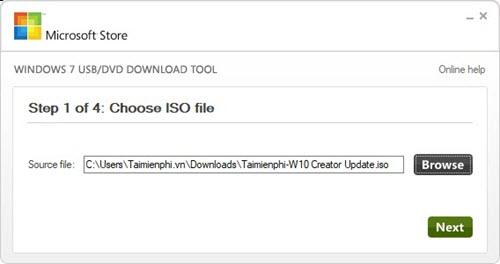 cach cai windows 10 creator update bang usb 3