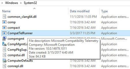 Cách sửa lỗi CPU và Disk tăng do CompatTelRunner.exe