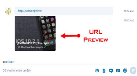 huong dan bat tat an hien link url preview tren skype che do xem truoc url