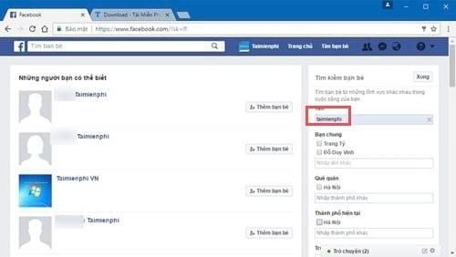 Cách tìm Facebook qua tên, số điện thoại, mail, địa chỉ, tìm Group, Fanpage 4