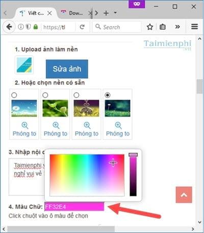 Cách viết chữ lên ảnh online trực tuyến, tạo các status hình ảnh