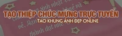 tao thiep truc tuyen online khung anh dep thiep chuc mung