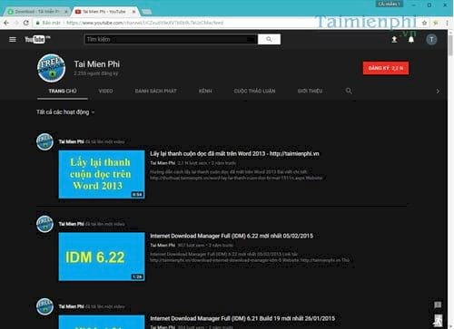 Kích hoạt, bật Dark Mode trên Youtube, chế độ ban đêm giúp bảo vệ mắt