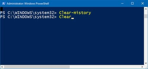 huong dan xem lich su bang cau lenh tren windows powershell 13