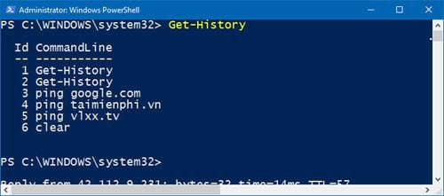 huong dan xem lich su bang cau lenh tren windows powershell 3