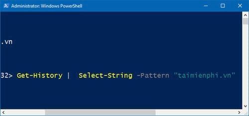 huong dan xem lich su bang cau lenh tren windows powershell 4