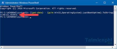 Cách xem thời gian hoạt động của máy tính trên Windows 10