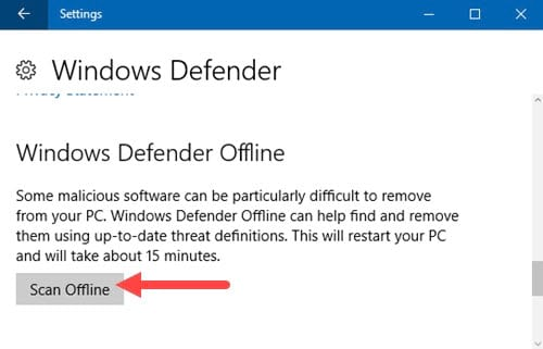quet virus offline tren windows defender bang powershell tren windows 10 3