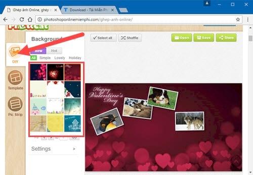 Cách ghép ảnh trực tuyến Online, ghép nhiều ảnh lại với nhau 10