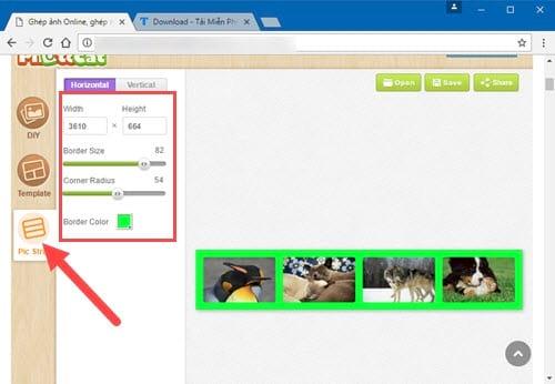 Cách ghép ảnh trực tuyến Online, ghép nhiều ảnh lại với nhau 11