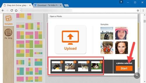 Cách ghép ảnh trực tuyến Online, ghép nhiều ảnh lại với nhau 3