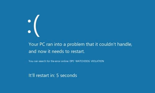 cach sua loi dpc watchdog violation tren windows 10