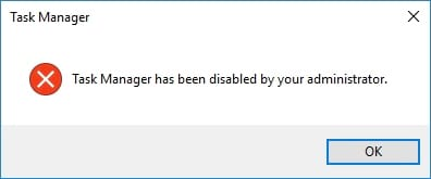 cach sua loi task manager is disabled or greyed out tren windows 10