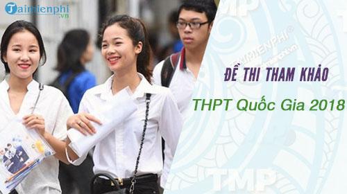 de thi tham khao thpt quoc gia 2018