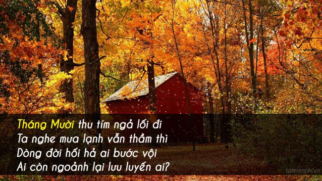 Chào tháng 10, những câu nói, hình ảnh hay về tháng 10 10