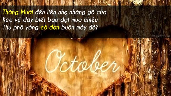 Chào tháng 10, những câu nói, hình ảnh hay về tháng 10 8