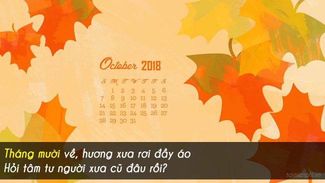 Chào tháng 10, những câu nói, hình ảnh hay về tháng 10 5