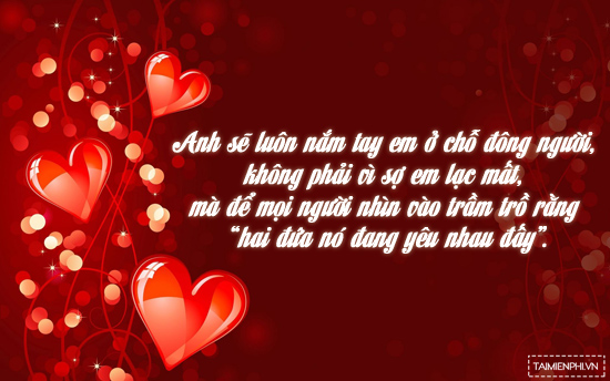 loi chuc valentine trang