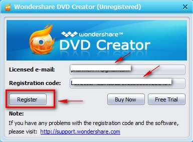 wondershare dvd creator registration code and email