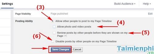 Facebook - Chặn đăng bài/post bài lên Fanpage Facebook
