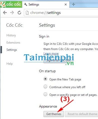 Đổi hình nền Cốc Cốc, thay ảnh nền trên trình duyệt web CocCoc