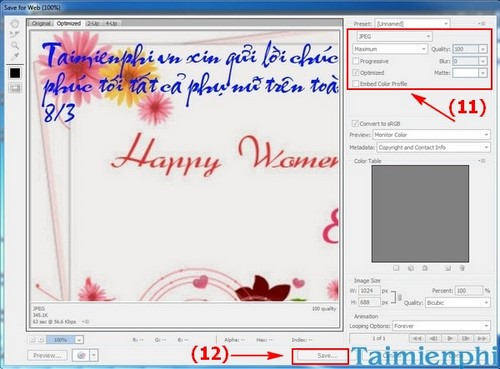 Tạo thiệp 8/3 bằng photoshop, tặng mẹ, chị, em gái, bạn gái ngày quốc tế phụ nữ