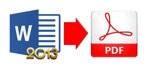 chuyen word sang pdf trong office 2013