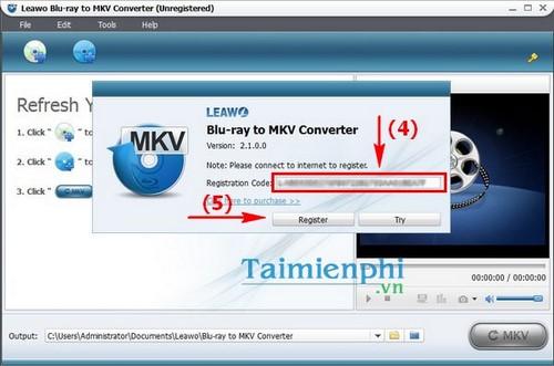 leawo blu-ray to mkv converter mien phi