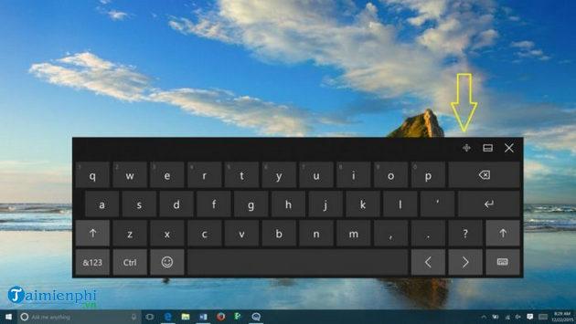 microsoft som bo sung nhan dan tren windows 10 touch keyboard