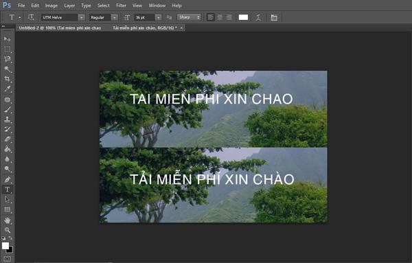 Cách gõ tiếng Việt trên Photoshop CS6