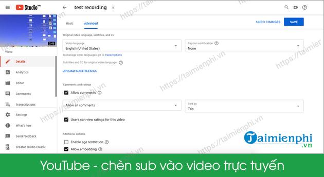 insert sub into online video