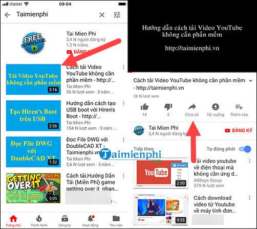 tai video youtube trên iPhone