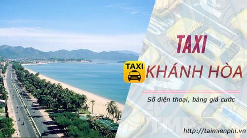 taxi khanh hoa so dien thoai tong dai dat xe