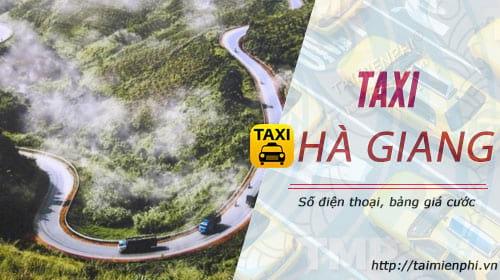 taxi ha giang so dien thoai gia cuoc