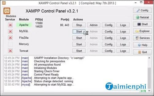 how to run php file on xampp 5