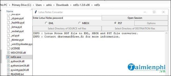 cach chuyen doi file nsf files sang pst files mien phi 4