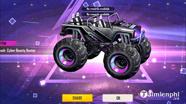 Monster truck in free fire