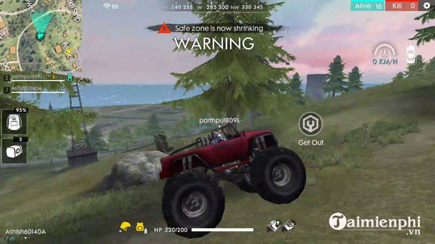 show monster truck in free fire