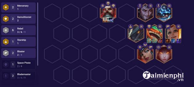 Top đội hình mạnh nhất DTCL 3 10