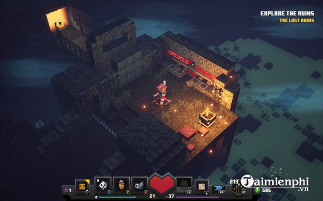 Cách giải các câu đố trong Soggy Caves game Minecraft Dungeons