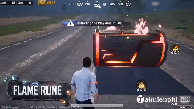 Play with runic power in pubg mobile like how